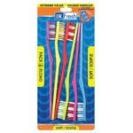 Dr Fresh extreme value 6 pack toothbrushes soft bristles