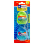 Dr Fresh mint waxed & waxed floss 2 pack