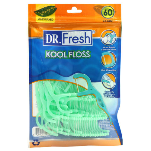 Dr fresh mint waxed Kool Floss 60 count