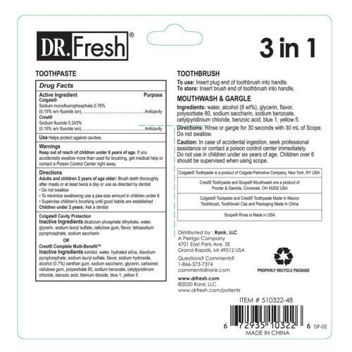 Dr Fresh Travel Kit 3in1 Back