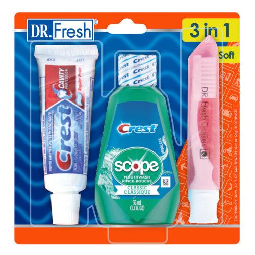 Dr Fresh 3-in-1 travel kit