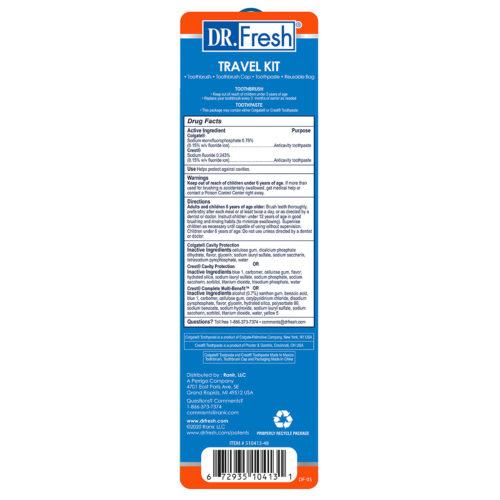 Dr Fresh TSA Travel Kit Back
