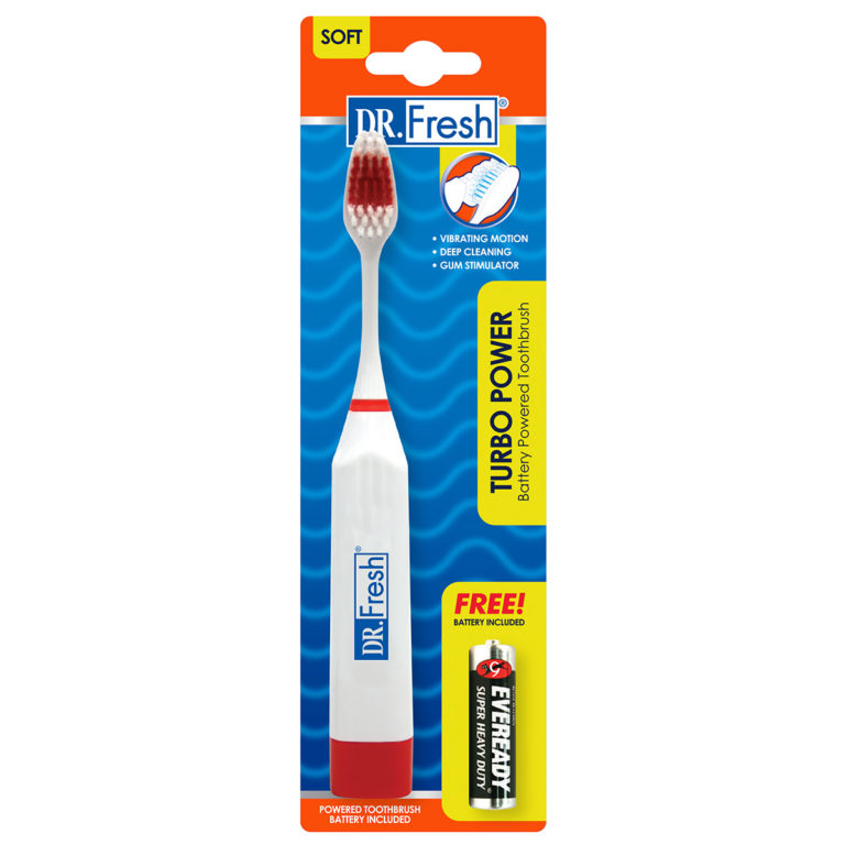 Dr Fresh TurboPower Toothbrush with Soft Bristles