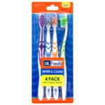 Dr Fresh White & Clean Soft Bristle 4 Pack